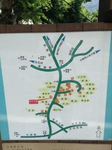 行路温泉の地図