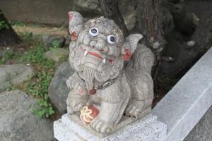 枋寮褒忠義民廟の獅子