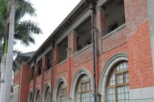 新竹市政府の丸い窓