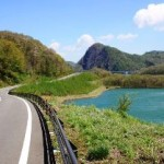 胆沢ダム。岩手県、春の絶景ドライブコース