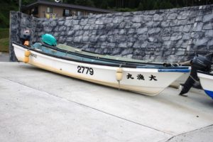 碁石海岸の漁船