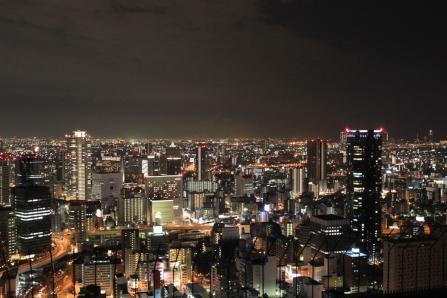 梅田スカイビル空中庭園、夜景